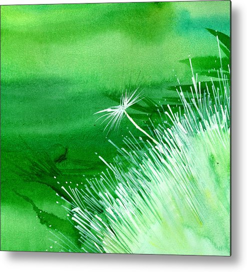 Flowers Metal Print featuring the painting White Flower by Anil Nene
