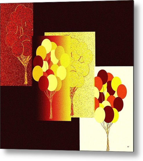 #abstractfusion192 Metal Print featuring the digital art Abstract Fusion 192 by Will Borden