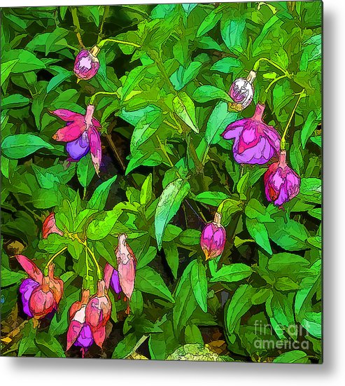 Nature Metal Print featuring the photograph Bama Blooms by Nancy Marie Ricketts