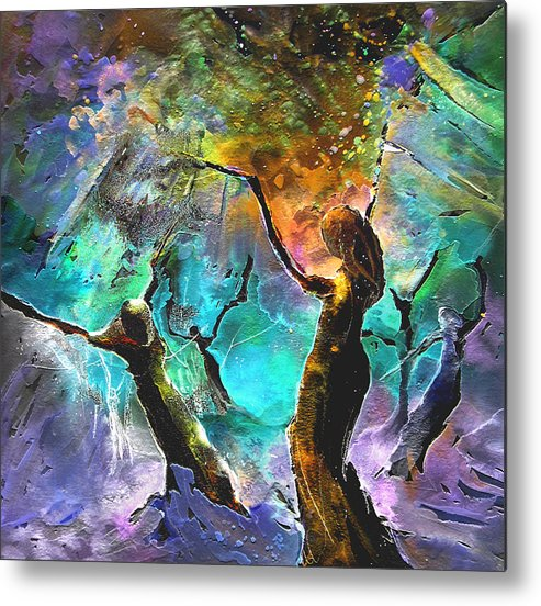 Miki Metal Print featuring the painting Celebration Of Life by Miki De Goodaboom
