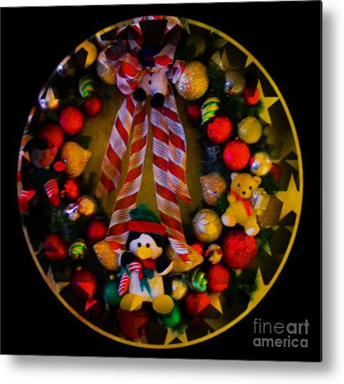 Decorated Metal Print featuring the photograph Decorated Wreath by Kathleen Struckle