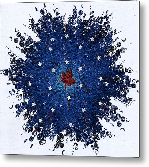 First Star Art By Jrr And Jammer Metal Print featuring the mixed media Dual Citizenship 1 by First Star Art
