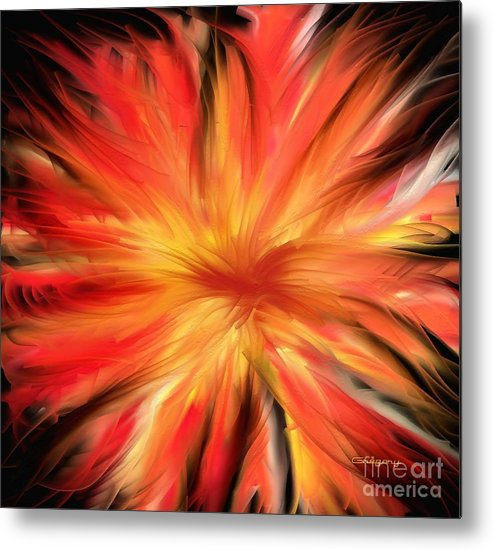 Painting Metal Print featuring the digital art Marigold by Greg Moores