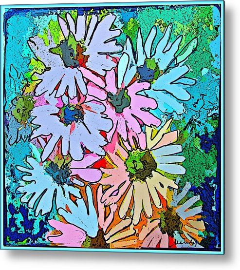 Daisy Metal Print featuring the painting Smiling Daisies by Mindy Newman