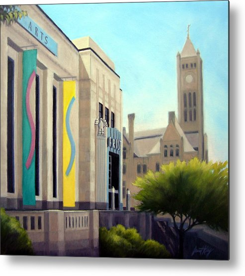 Frist Center For The Visual Arts Metal Print featuring the painting The Frist Center by Janet King