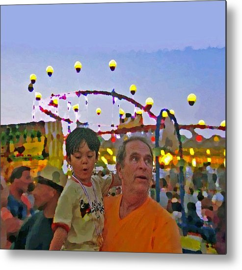 Grandson Metal Print featuring the photograph Two Kids At The Jersey Shore by Lisa Piper