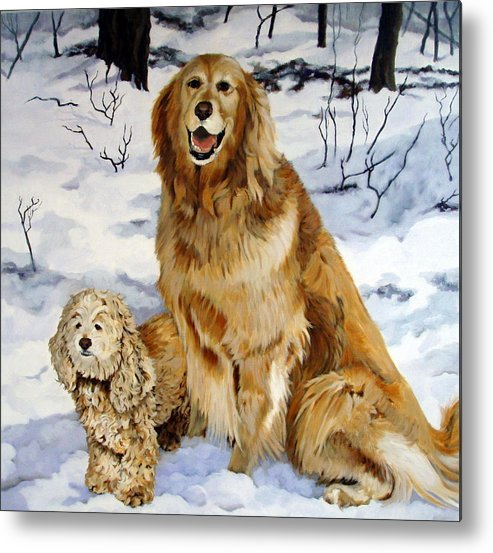 Dog Metal Print featuring the painting Best Friends by Sandra Chase