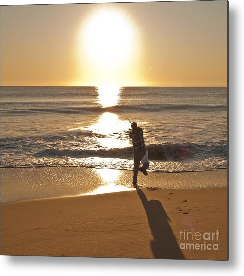 Beach Metal Print featuring the photograph Casting To The Sun by Jim Moore
