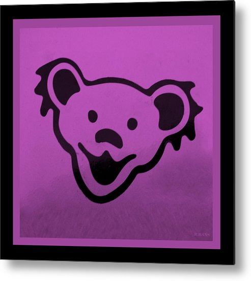 Greatful Dead Metal Print featuring the photograph Greatful Dead Dancing Bear In Pink by Rob Hans