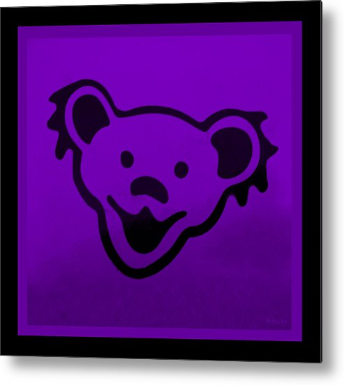 Greatful Dead Metal Print featuring the photograph Greatful Dead Dancing Bear In Purple by Rob Hans