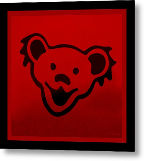 Greatful Dead Metal Print featuring the photograph Greatful Dead Dancing Bear In Red by Rob Hans