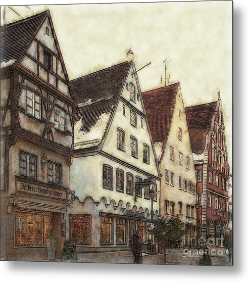 Photo Metal Print featuring the photograph Winterly Old Town by Jutta Maria Pusl