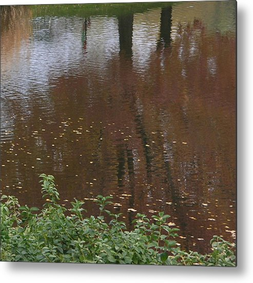 Nature Metal Print featuring the photograph Reflections On A Fall Day by Janis Beauchamp