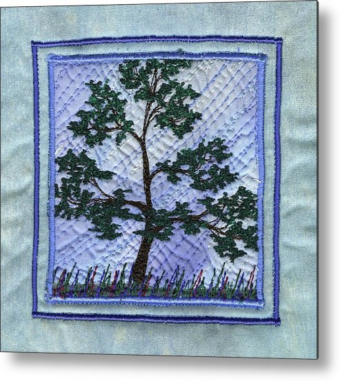 Tree Metal Print featuring the tapestry - textile Solidarity by Dottie Moore