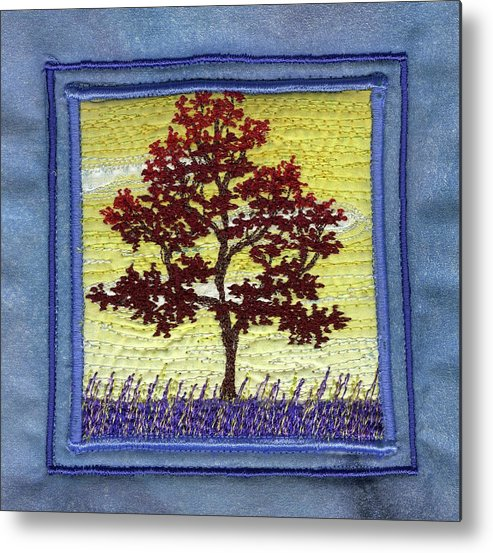 Tree Metal Print featuring the tapestry - textile Transition by Dottie Moore