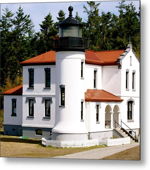 Architecture Metal Print featuring the photograph Admirality Head Lighthouse by Sonja Anderson