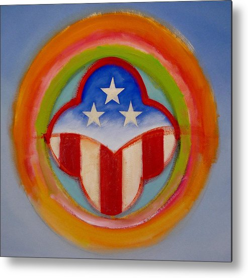 Logo Metal Print featuring the painting American Three Star Landscape by Charles Stuart