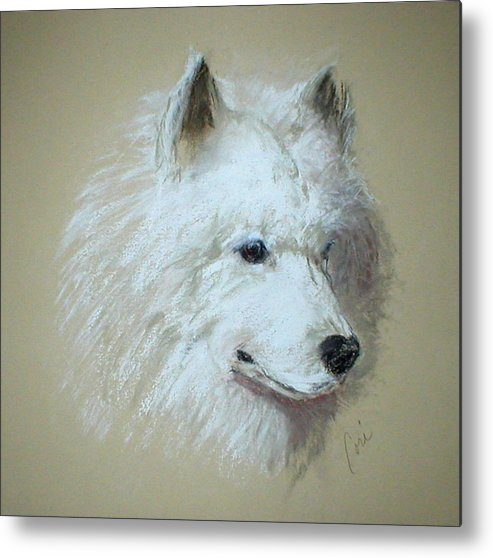 Dog Metal Print featuring the drawing Arctic Serenity by Cori Solomon