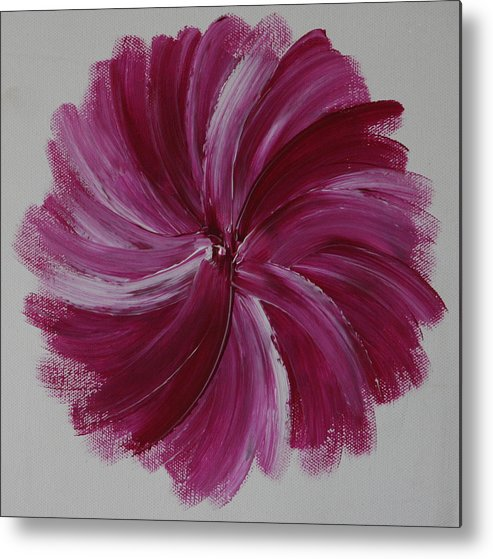 Fine Paintings Metal Print featuring the painting Blooming Root Chakra by Malik Jaffer
