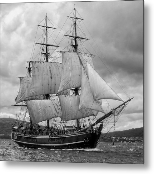 Tall Ship Metal Print featuring the photograph Bounty by John Hughes