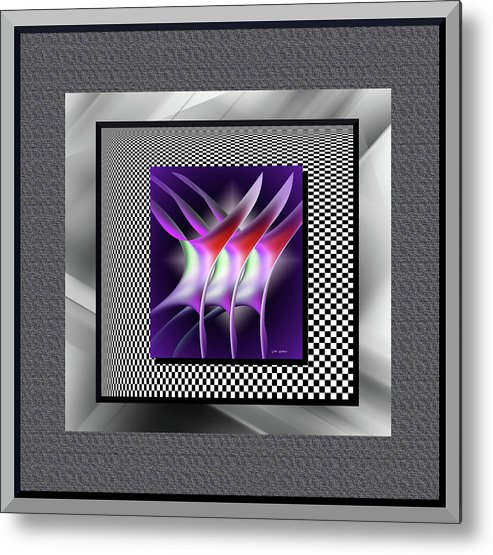 Abstract Metal Print featuring the digital art Decisions #2 by Iris Gelbart