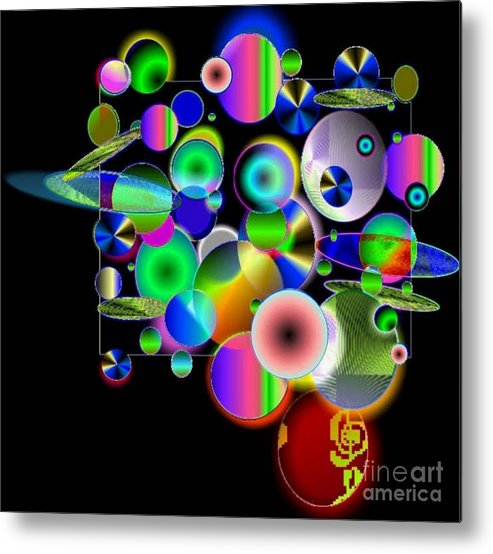 Concept Art Metal Print featuring the digital art Designers New Drum Kit by Brenda L Spencer