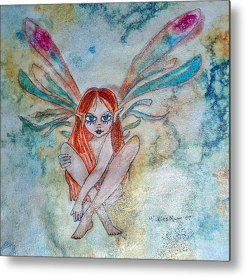 Fairy Metal Print featuring the painting Fairy Dust by Mickie Boothroyd