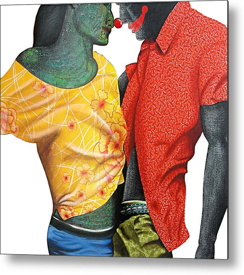 Contemporary Metal Print featuring the painting Floating Fantacy 5 by Bharat Gothwal
