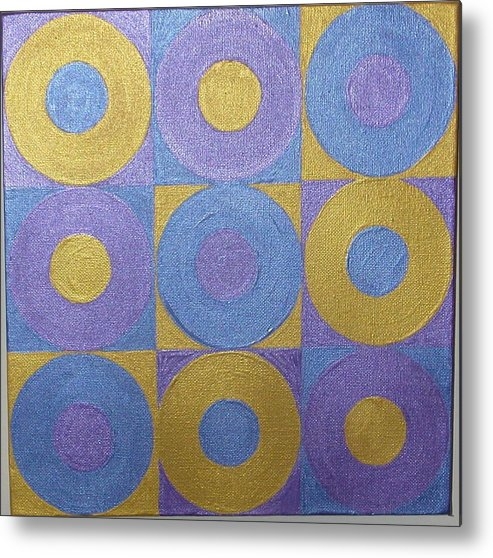 Bkue Metal Print featuring the painting Got The Brass Blues by Gay Dallek