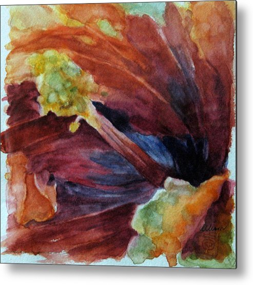 Floral Metal Print featuring the painting Hibiscus by Stephanie Allison