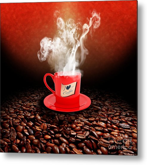 Coffee Metal Print featuring the photograph I Love Coffee by Stefano Senise