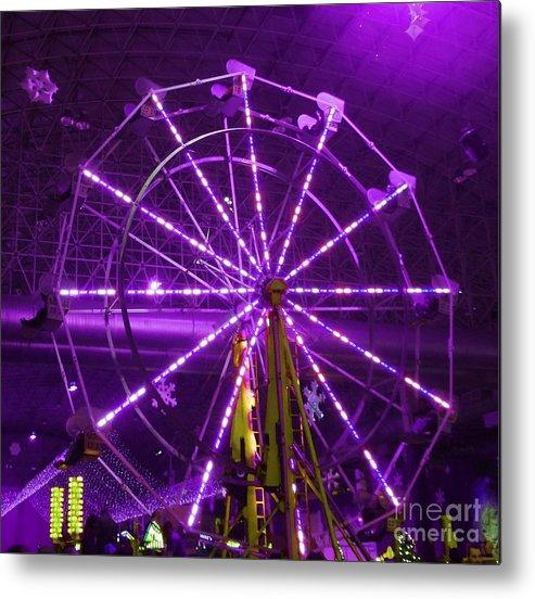 Ferris Wheel Metal Print featuring the photograph Lavender Ferris Wheel by Teresa Hayes