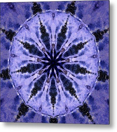 Mandala Metal Print featuring the digital art Mandala Ocean Wave by Nancy Griswold