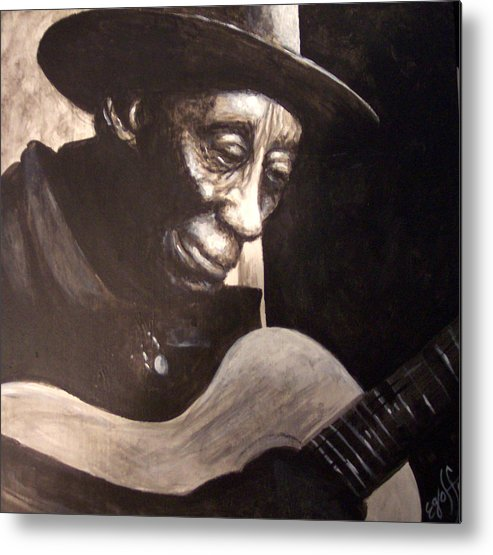 Blues Metal Print featuring the painting Mississippi John Hurt by Douglas Egolf