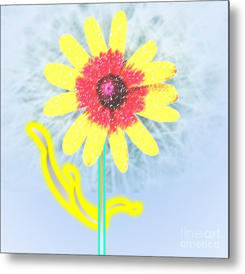 Flower Metal Print featuring the painting Quaint Little Daisy by Belinda Threeths