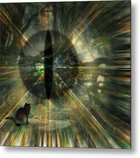 Cat Metal Print featuring the digital art See What I See by Gae Helton