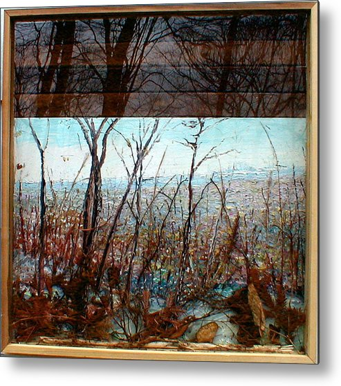 Landscape Metal Print featuring the painting Skyline by J E T I I I
