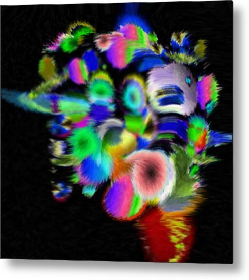 Abstract Art Metal Print featuring the digital art Solo Prism by Brenda L Spencer