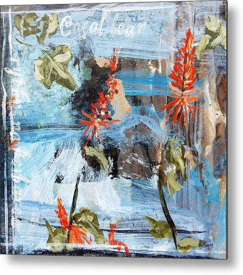 Series Metal Print featuring the painting Texas Wildflowers Tp Ab by Michael Dillon