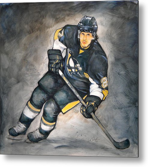 Oil Metal Print featuring the painting The Look Of A Champion by Erik Schutzman