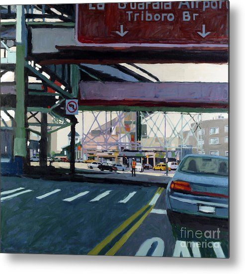 Urban Metal Print featuring the painting To The Triboro by Patti Mollica