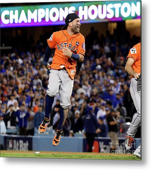 People Metal Print featuring the photograph World Series - Houston Astros V Los by Harry How