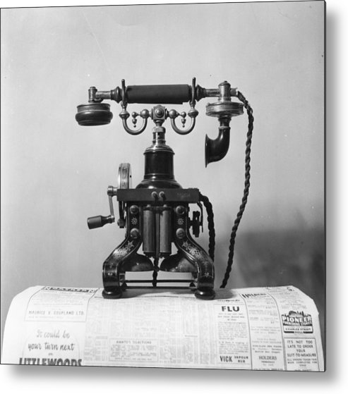 England Metal Print featuring the photograph Telephone by Raymond Kleboe