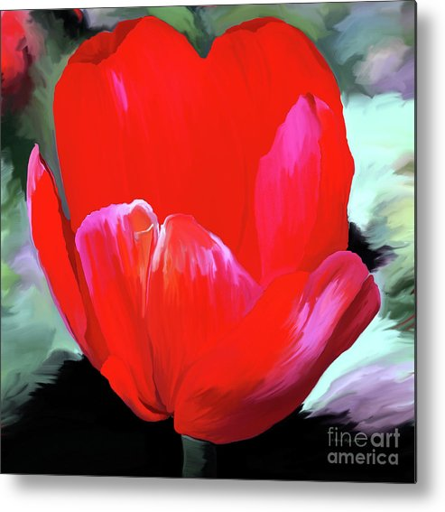 Fine Art Metal Print featuring the photograph Red Hot by Patricia Griffin Brett