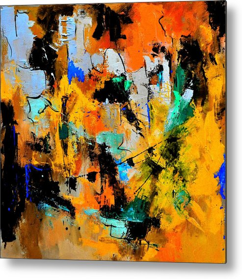 Abstract Metal Print featuring the painting Abstract 315002 by Pol Ledent