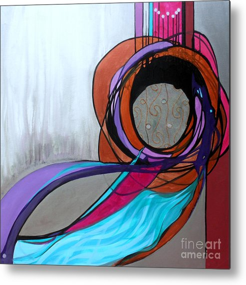 Judaic Metal Print featuring the painting Aishet Chayil Woman Of Valor by Marlene Burns