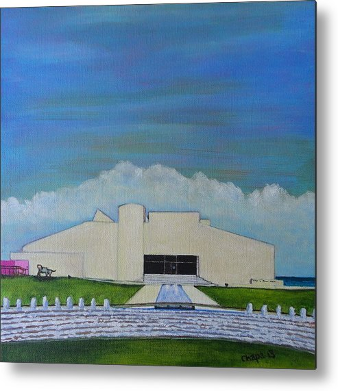 Metal Print featuring the painting Art Museum Of South Texas by Manny Chapa