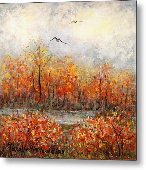 Landscapes Metal Print featuring the painting Autumn Song by Natalie Holland