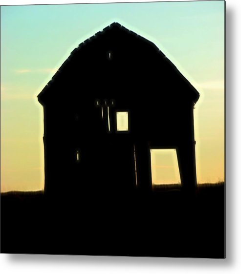 Barn Metal Print featuring the digital art Barn Again by Cathy Anderson