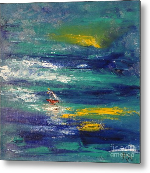 Caught Off Guard Metal Print featuring the painting Caught Off Guard by PainterArtist FIN